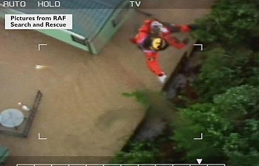 floods in Wales footage