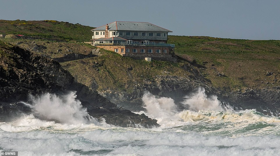 Many areas will see wet and windy conditions on Saturday, although Scotland and South East England are expected to see better weather (pictured: Newquay, Cornwall)