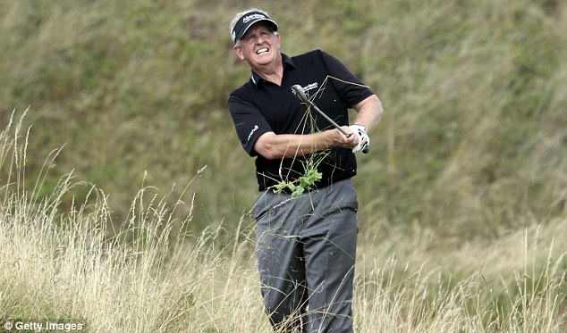 Anguish: Colin Montgomerie was far from happy with his performance during the final round