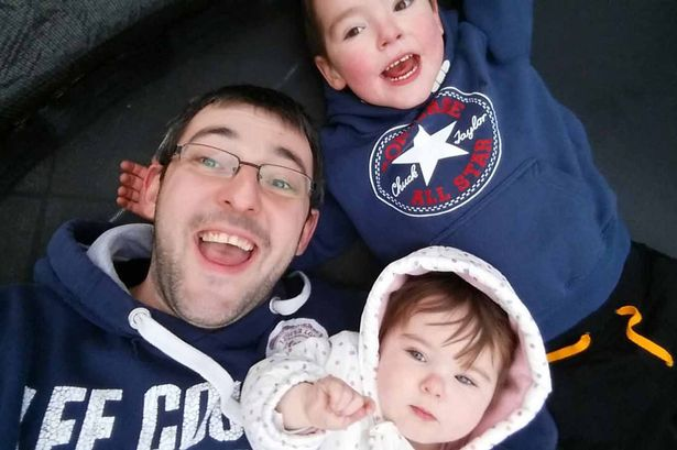 Andrew Frayne with Ethan and Evelyn