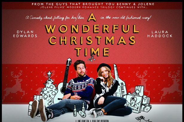 Film poster for A Wonderful Christmas Time, a film by Porthcawl filmmaker Jamie Adams