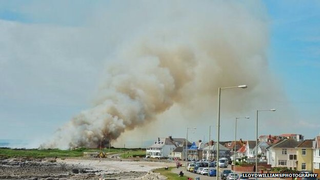 Fire at Porthcawl