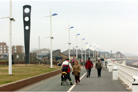 Attractions like Aberavon Beach have helped boost tourism