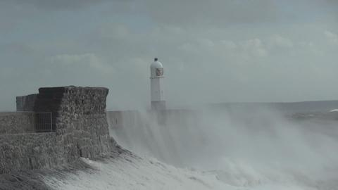 Porthcawl lighthouse takes a battering