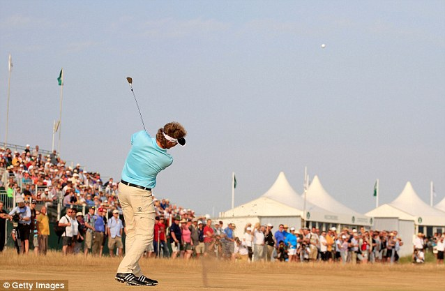 Swing: He is taking part in the Senior Open Championship