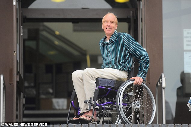 Gold medal winning Paralympian Simon Richardson, who has been left household following an accident as he can't afford an electric wheelchair
