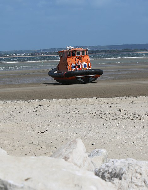 It is believed the vessel had been aground for 24 hours after being caught up in the storm