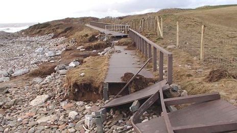 coastal path damage Porthcawl