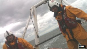 RNLI lifeboat involved in rescue