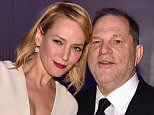 Uma Thurman claims Harvey Weinstein forced himself on her in a hotel room in London while they were working together sometime between Pulp Fiction (1994) and Kill Bill (2002). They are pictured together in 2016