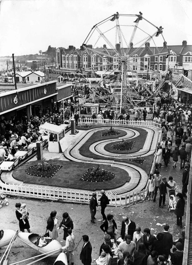 A very popular Barry Island Funfair in June 1968