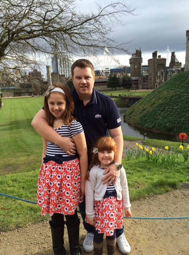 Christopher Peters with Lowri and Sophie