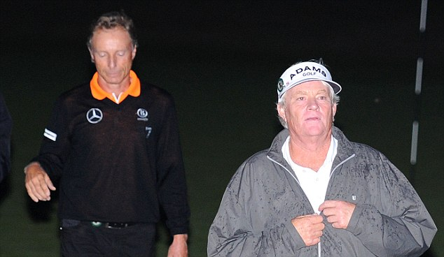 Germany's Bernhard Langer (left) and USA's Mark Wiebe
