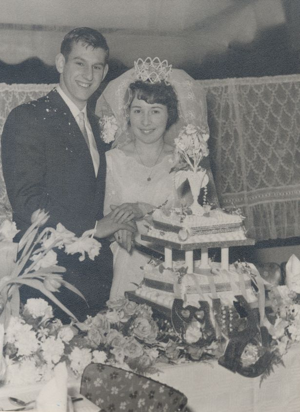 Malcolm and Ellen Courtier on their wedding day on February 8, 1964