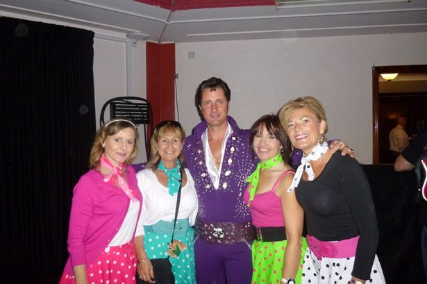 Claire Curliss and friends at the Porthcawl Elvis Festival
