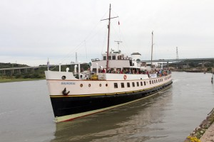 The Balmoral setting sail from Briton Ferry on its 2011 cruise