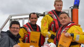 Mike Dooley and the RNLI crew