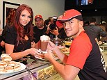 TOWIE star Amy Childs stopped by to grab a coffee and a cake at the opening