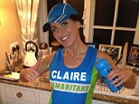 Poignant: Claire Squires, of North Kilworth, Lutterworth, in a Facebook photo taken the day before she died running the London Marathon