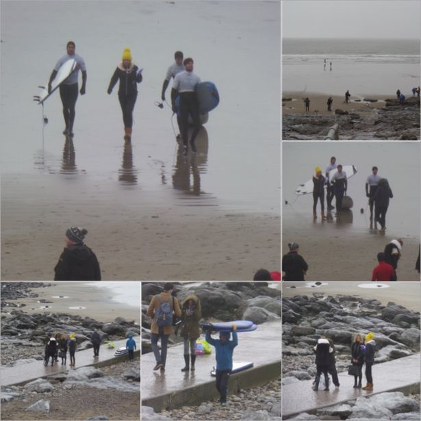 Michael Davies sent in this picture of the cast of The Only Way is Essex on Rest Bay, Porthcawl