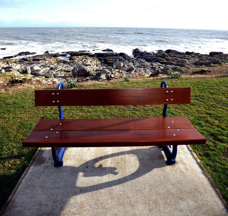 Seafront benches ridiculed for facing the wrong way